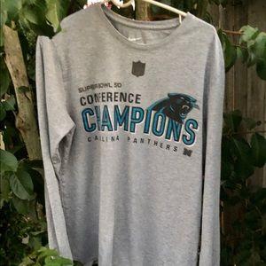Nike Carolina Panthers Tee Shirt Super Bowl Conf